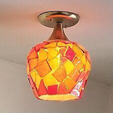 539 Vintage 60s 70s Ceiling Light glass Fixture Mid-Century retro eames