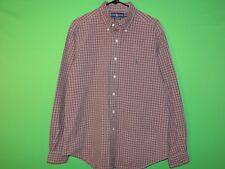 Polo Ralph Lauren Mens Size 16 1/2 / L Large Classic Fit Plaid Long Slv Shirt