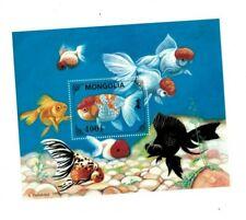 Mongolia - Tropical Fish Souvenir Sheet - MNH
