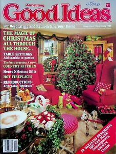 Vtg Armstrong Good Ideas For Decorating Your Home Christmas Magazine 1982 m458