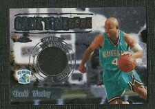 DAVID WESLEY 04 TOPPS CHROME GAME TIME GEAR PLAYER WORN WARM UP HORNETS
