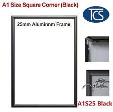 TCS A1 Black Snap Frame Square Corner/ Poster Frame/ Display 25mm