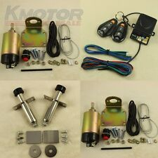 Shaved Door Handle Kit 2 Doors Popper Solenoid Street Rat Hot Rod Car Truck 85LB