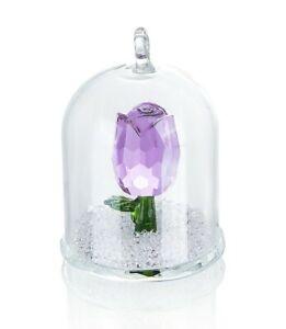 K9 Crystal Enchanted Purple Tulip Flower Figurine Ornament Glass Dome - NOYISTAR