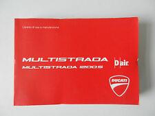 DUCATI 1200 S MULTISTRADA manuale di istruzioni IT il libretto di uso e manutenzione