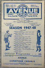 More details for walthamstow avenue v corinthian casuals 1948/49