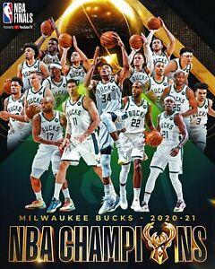 Giannis Antetokounmpo NBA 8x10 Photo Milwaukee Bucks 2021 NBA Champions Team Com
