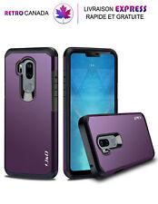 Etui, Coque pour LG G7 ThinQ, G7 Double couche Hybrid Antichoc ,Violet