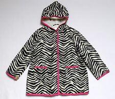 "Gymboree ""Wild One"" Lined Zebra Print Rain Jacket Coat, XS (3-4)"