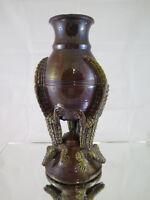 Vase IN Keramik Slip Rutscht Mit Krokoklemmen Novecento Frankreich R54