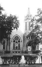Marengo Illinois~Methodist Church~Parking Meters~1950s Real Photo Postcard~RPPC