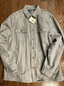 Faherty Men's Blanket Lined CPO Jacket Cozy Casual Lined Pockets Size L Shacket