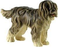 Skulptur Hund Schäferhund CM 6,8 Geschnitzt IN Holz Der IN Gröden Dekoriert Hand