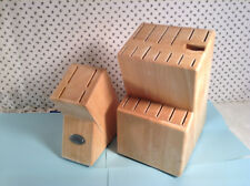 Set Of Large & Small All Heavy Pine Wood Knife Blocks Without Knifes