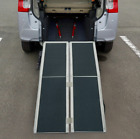6ft Folding Aluminum Wheelchair Ramp Portable Mobility Scooter Carrier