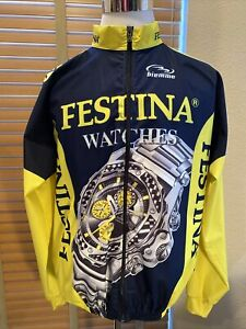 BIEMME Navy Yellow Destination Watches Cycling Jacket SIZE XL.            P12448
