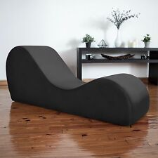 Liberator Kama Sutra Chaise & Tantra Lounger - Black Micro-velvet