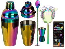 Rainbow Metal 550ml Cocktail Set Martini Shaker Mixer Drink Bartender Pub Party