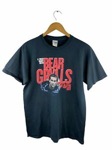 Bear Grylls 2011 Australian Tour T Shirt Mens Size M Black Short Sleeve Crew