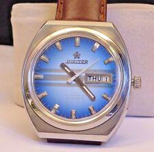 Vintage Jupiter Automatic 25j Mens Watch, Blue Dial, Running Fine, Nice Looking!