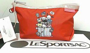Hello Kitty x LeSportsac Sanrio Medium Sloan Cosmetics Pouch Red