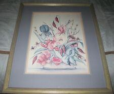 A. Renee Dollar Floral, Signed LE 945/1000 Matted & Framed art print 28x35""