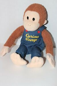 """Curious George 14"""" Plush in Blue Overalls"""