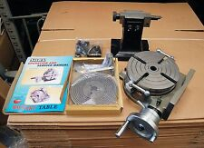 """SOBA 8"""" 200 MM ROTARY TABLE SET WITH TAILSTOCK , PLATES & CLAMP KIT FOR MILLING"""