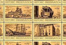 1971 - HISTORIC PRESERVATION - #1440-43 Full Mint Sheet of 32 Postage Stamps
