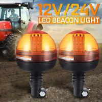 12 V//24 V FLEXI DIN Espita de montaje en poste LED ámbar intermitente//baliza de advertencia de Naranja