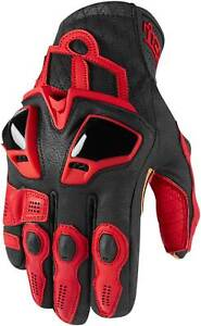 Icon Hypersport Short Gloves - Motorcycle Street Bike Riding Race Leather Mens