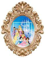 Disney Princess's frame  1 - Light Switch Surround Sticker vinyl  decal  - 44
