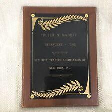 Bernie Madoff Estate Property Historical Memorabilia New York Wall Street Award