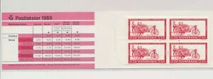LO37776 Denmark 1989 fire engines cars good booklet MNH
