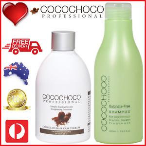 ❤❤ COCOCHOCO Pro ORIGINAL Keratin Treatment 250ml + SULPHATE FREE SHAMPOO 400ml
