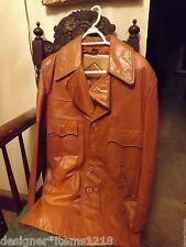 Martini Genuine Nappa Leather Jacket RN21512 Brown Size 40
