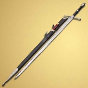 Aragorn Strider Ranger Sword (Black Color) With Knife Fully Handmade Replica