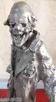 Clown Große Skulptur Zinn Unterzeichnet Enest Patris