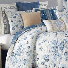 Rose Tree Ardenelle Blue white Floral 4P King comforter Set reversible
