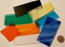 1/4 lb (4 oz) Opal Transparent and Iridescent Mix 90 COE Fusible Scrap Asst