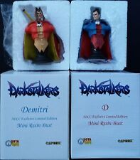 Sota Toys Darkstalkers Dee and Dmitri Mini Bust Set SDCC Exclusives MIB RARE!!