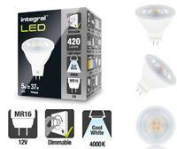 MR16 12v LED Dimmable Bulb - 5W (37W equiv) - 4000K (Cool White) - 420 Lumens.