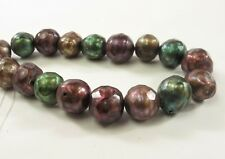 10-12 mm Half Strand - Faceted Potato Freshwater Pearl Beads Multi Color (#688)