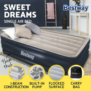 Bestway Air Bed Beds Mattress Single Twin Luxury Inflatable Built-in Pump
