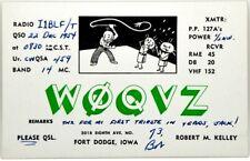 Cartolina QSL Radioamatori USA Fort Dodge, Iowa 1954