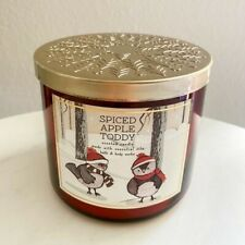 Bath & Body Works SPICED APPLE TODDY 3 Wick Candle - LARGE 14.5 Oz
