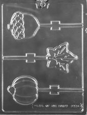 Fall Assortment  Lollipop Sucker Chocolate Mold  Candy Molds SHIPS SAME DAY m35