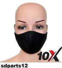 10x Protezione Naso Bocca Viso Lavabili Multiuso Fascia Nera Protezione Facciale