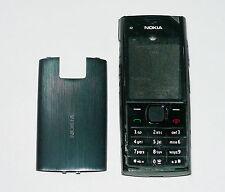 Full Black Cover Housing Fascia facia faceplate Case for Nokia X2 X2-00
