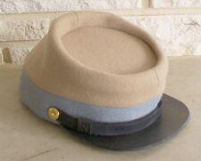 Confederate Infantry Kepi Butternut/Blue, Civil War Hat, New